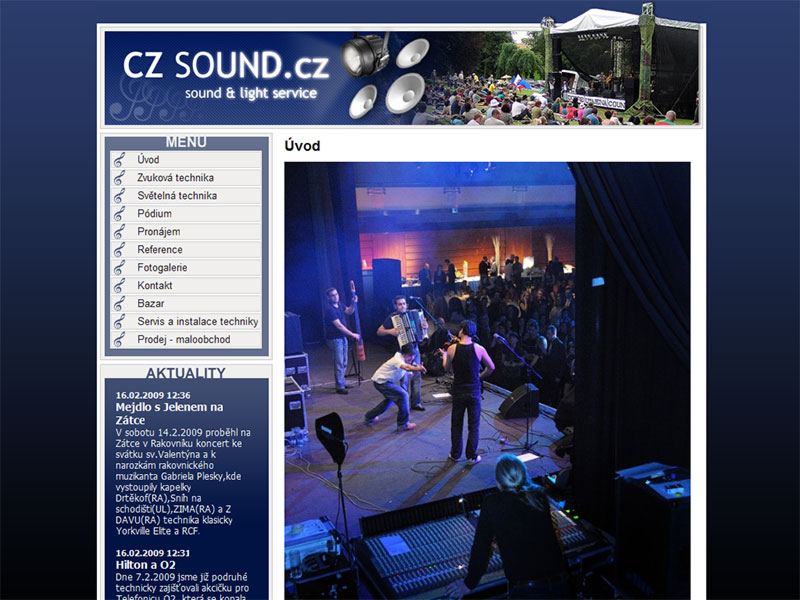 CZSound.cz web site screenshot