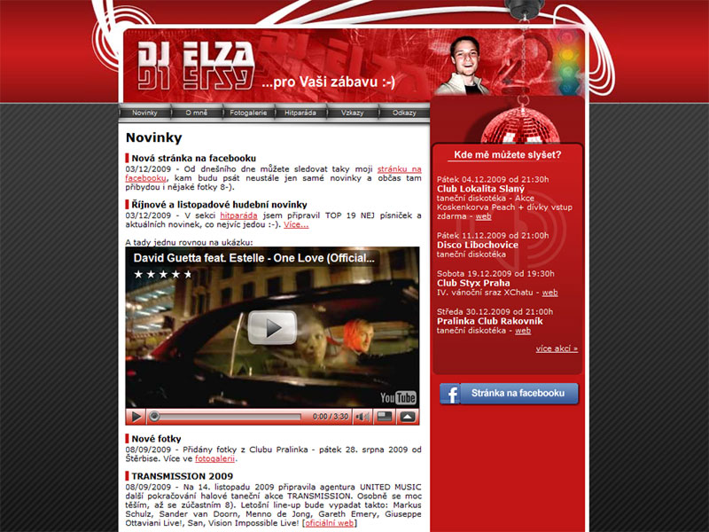 DJ Elza Web Site screenshot