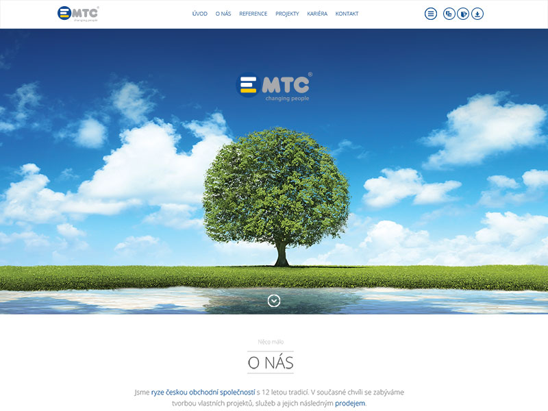 New web for EMTC - Czech screenshot