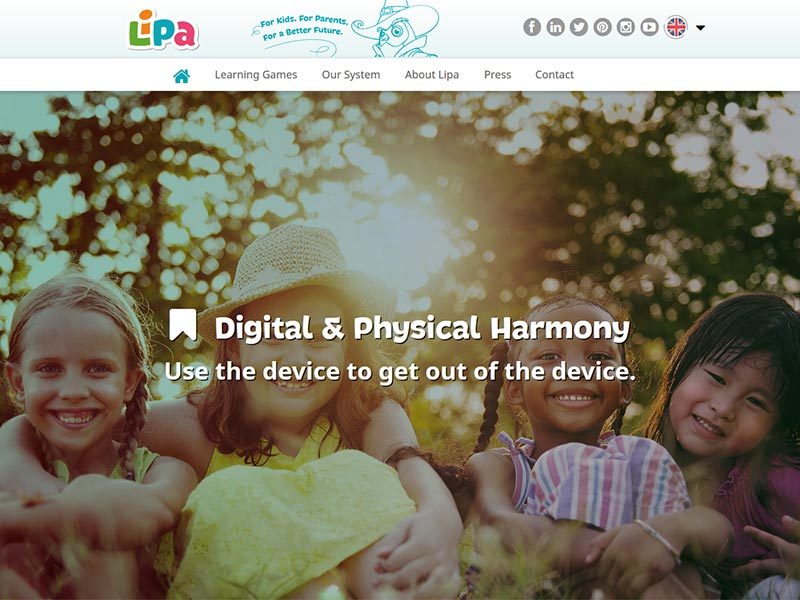 New responsive web Lipa Learning screenshot
