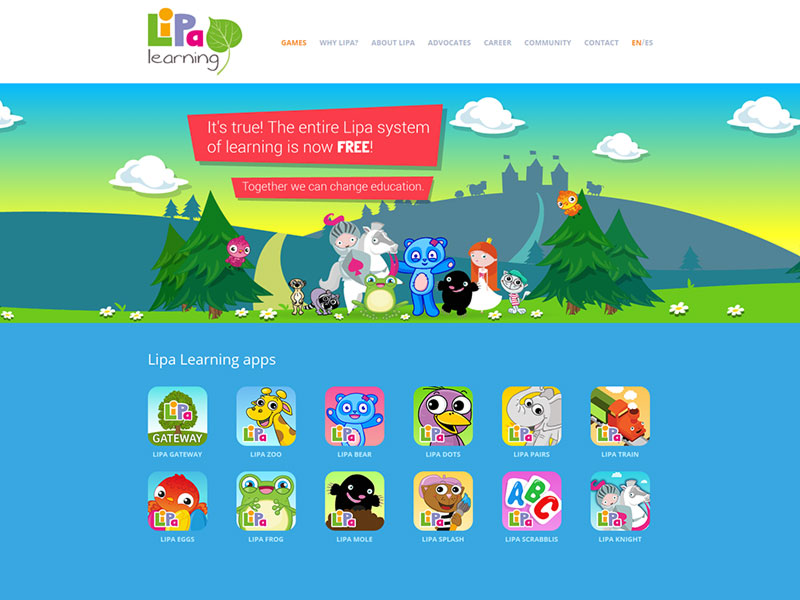Responsive web Lipa Learning screenshot