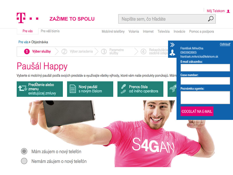Slovak Telekom screenshot